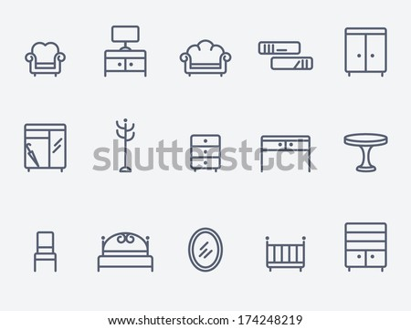 Modern Furniture Icon furniture icon stock images, royalty-free images & vectors