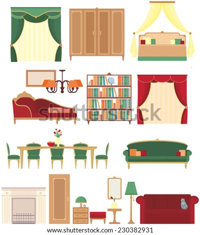 furniture interior icon - stock vector
