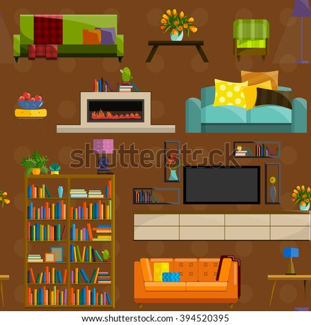 bookshelf games pixel art room bookshelf sofa window stock vector 557019706