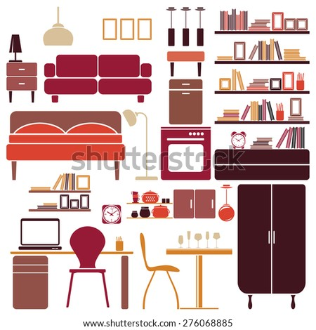 Furniture vector illustration - stock vector
