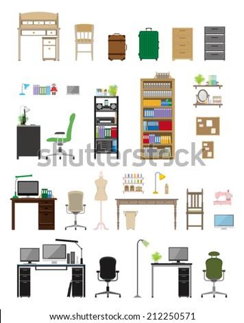 Furniture / Workroom - stock vector