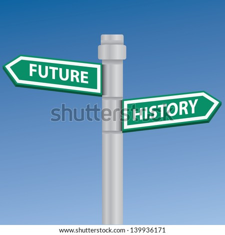 Future and history signpost,vector - stock vector