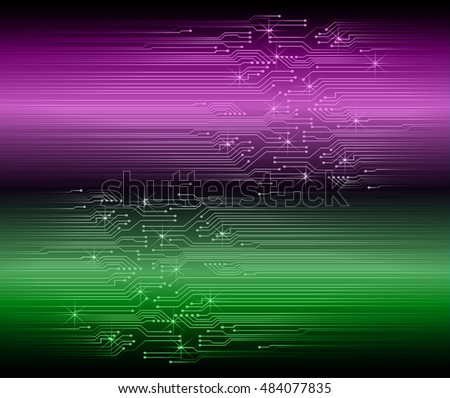 future technology, green purple cyber security concept background, abstract hi speed digital internet.motion move speed blur