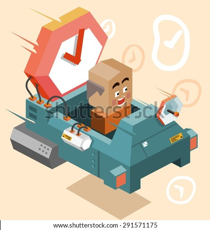 Future time machine. vector illustration - stock vector