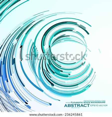 Futuristic abstract shape illustration, technology vector background eps10