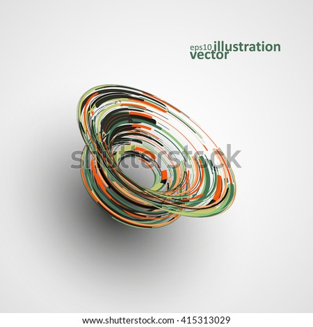Futuristic abstract shape illustration, technology vector background eps10 - stock vector