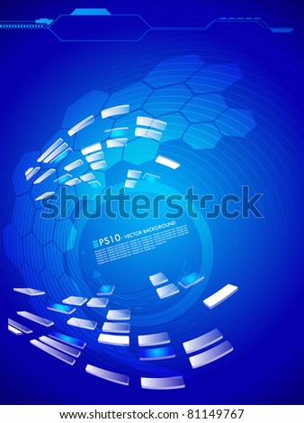 Futuristic abstract vector background with space for your text. - stock vector