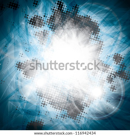 Futuristic and abstract blue background with lights vector eps10
