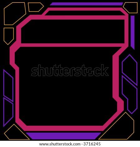 Futuristic Border - stock vector