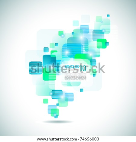 Futuristic Brochure Cover for Business Applications - stock vector