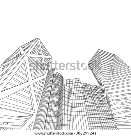 futuristic city buildings