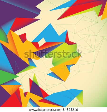Futuristic colorful abstraction. Vector illustration. - stock vector