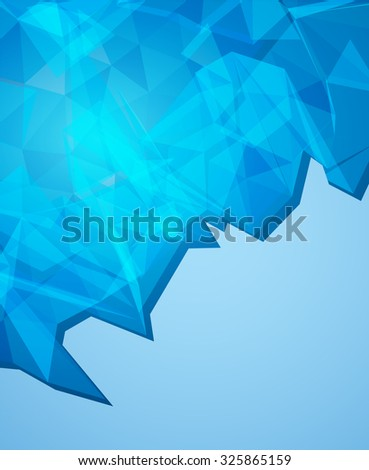 Futuristic Design, background with triangle - brochure design or flyer