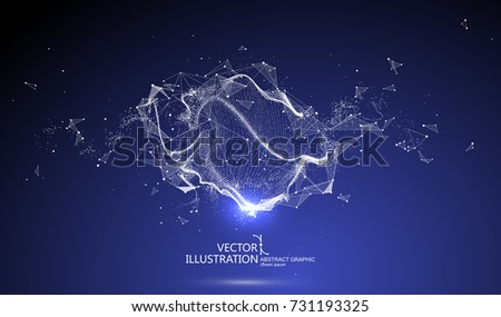 Futuristic globalization interface, a sense of science and technology abstract graphics.