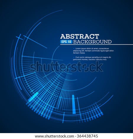 Futuristic graphic user interface. Vector illustration EPS10 - stock vector