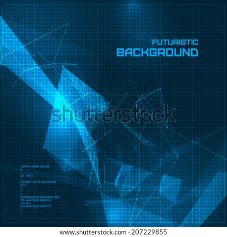 Futuristic HUD background - stock vector