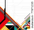Futuristic layout with geometric abstract forms. Vector illustration. - stock photo