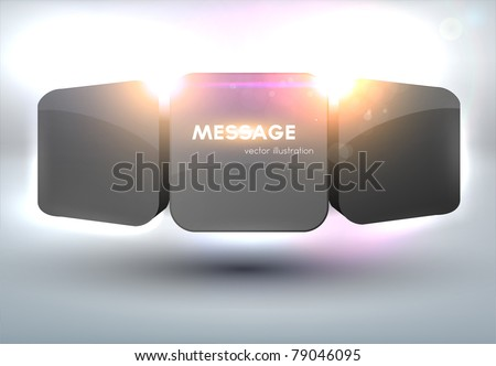 Futuristic minimal design with huge space for information. Fully editable. - stock vector