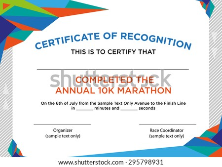 Futuristic Style Certificate Of Recognition With Sample Text. Editable Clip  Art.  Certificate Of Recognition Samples