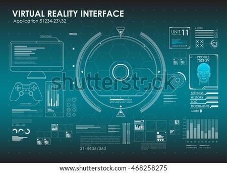 Hud Ui Element App Futuristic User Stock Vector 433746631 ...
