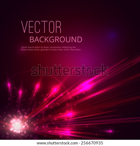 Futuristic vector abstract background. Explosion of star. - stock vector