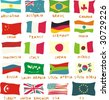 g20 flags drawn in a childish manner - stock photo
