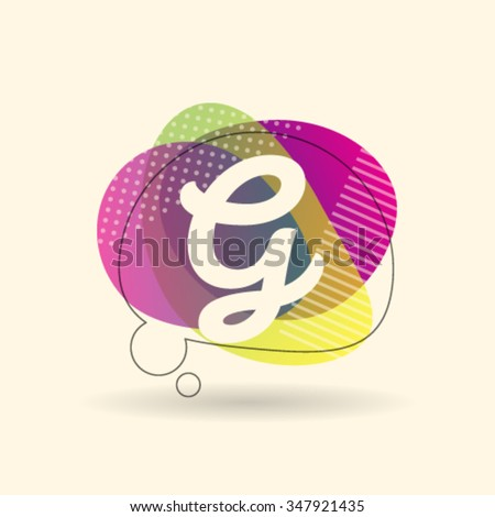 G Letter Alphabet Logo Icon Design Template Element. Vector Color Sign Easy Editable for Your Design - stock vector