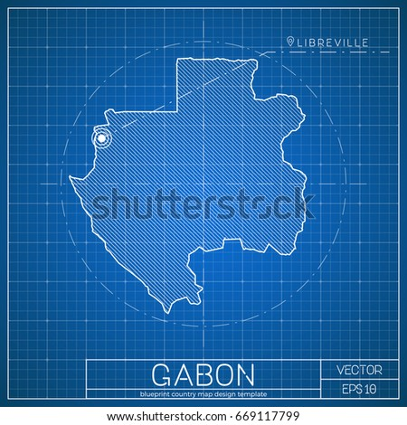 Stock images royalty free images vectors shutterstock gabon blueprint map template with capital city vector illustration malvernweather Image collections