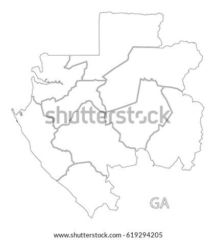 Gabon Regions Stock Images RoyaltyFree Images Vectors - Gabon blank map