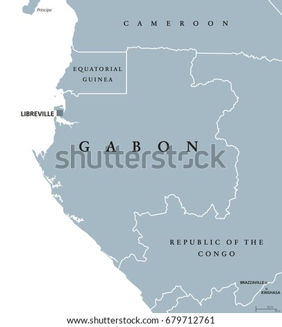 Gabonese republic stock images royalty free images vectors gabon political map with capital libreville gabonese republic a sovereign state located on the sciox Gallery