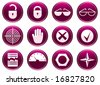 Gadget icons set. Purple - white palette. Vector illustration. - stock vector