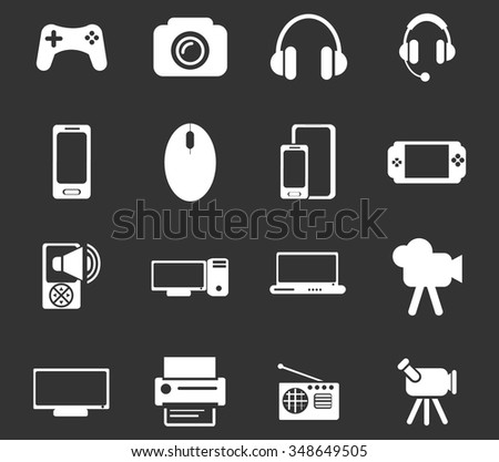 Gadget symbol for web icons