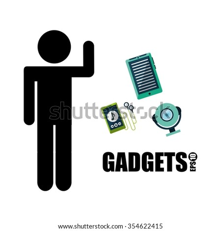 gadget technology design, vector illustration eps10 graphic