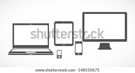 Gadgets - stock vector