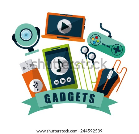 gadgets tech design, vector illustration eps10 graphic - stock vector