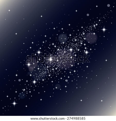 Galaxy background - stock vector