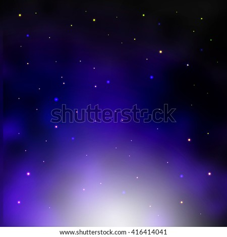 Galaxy background, cluster of stars illustration. Vector illustration - stock vector
