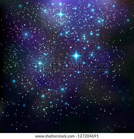 Galaxy background - vector illustration.