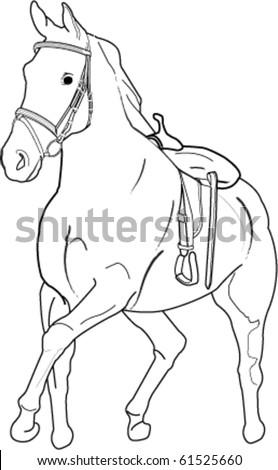 Galloping Horse - stock vector