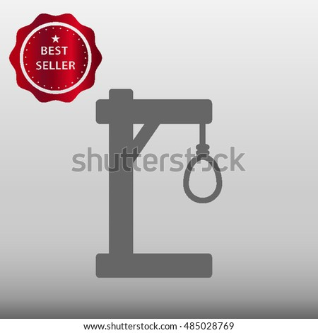 Gallows For Hanging Vector Icon Illustration