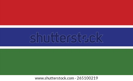 gambia Flag for Independence Day and infographic Vector illustration. - stock vector