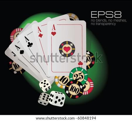 Gambling abstract. Vector. - stock vector