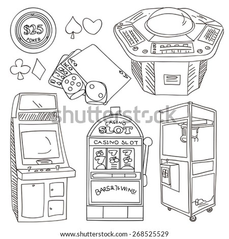Gambling and Entertainment Elements - stock vector