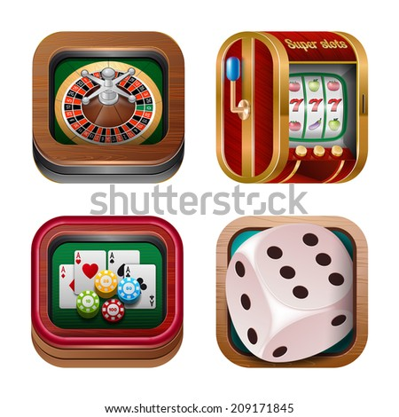 Gambling & Casino Icons for web and mobile. - stock vector