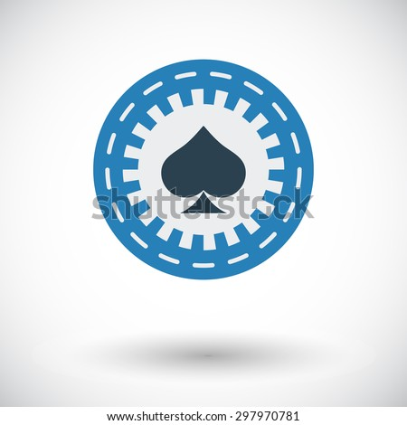 Gambling chips. Flat vector icon for mobile and web applications. Vector illustration. - stock vector