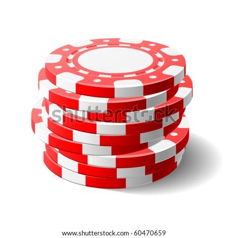 Gambling chips. Vector. - stock vector
