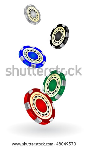 gambling chips vector illustrated - stock vector