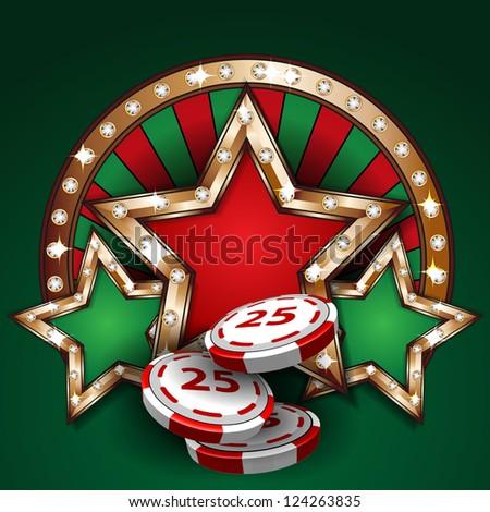 Gambling design template - stock vector