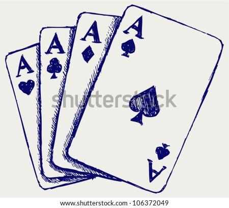 Gambling. Sketch - stock vector