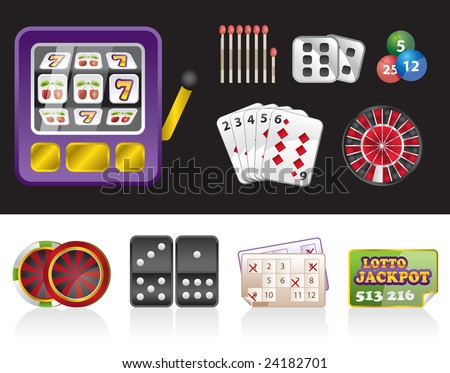 gambling tools - stock vector